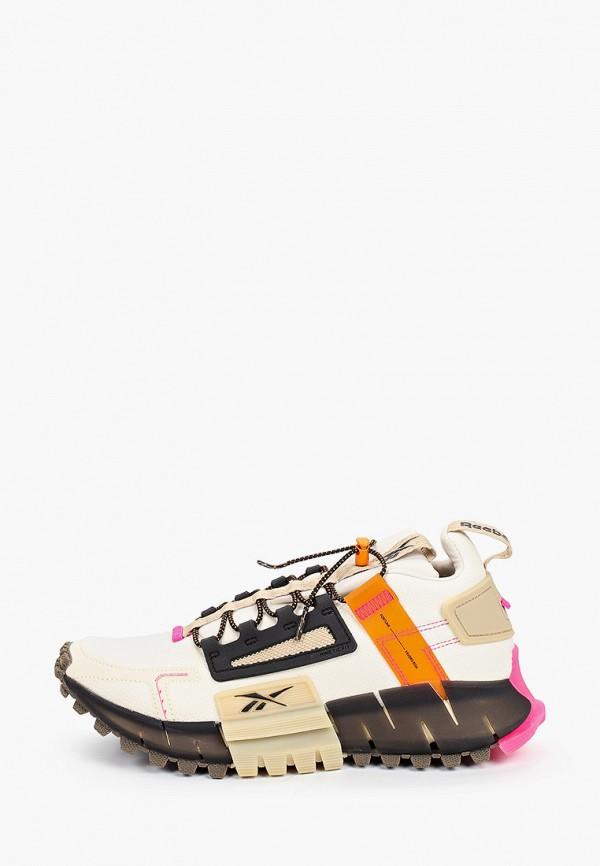 женские кроссовки reebok, бежевые