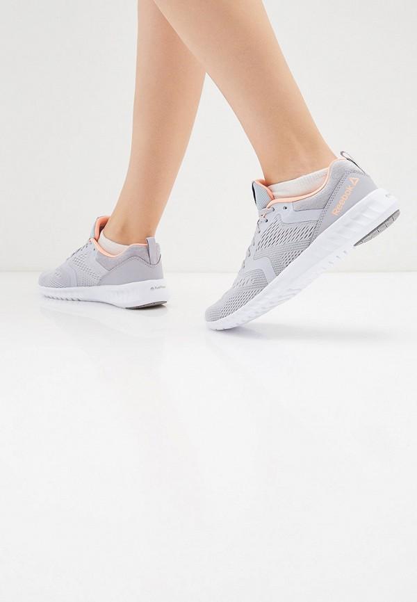 Фото 6 - женские кроссовки Reebok серого цвета