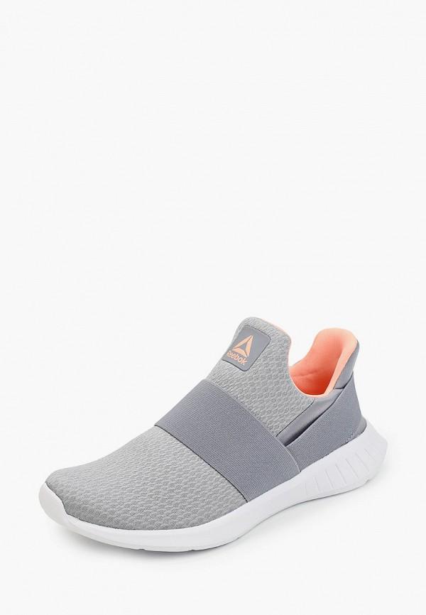 Фото 2 - женские кроссовки Reebok серого цвета
