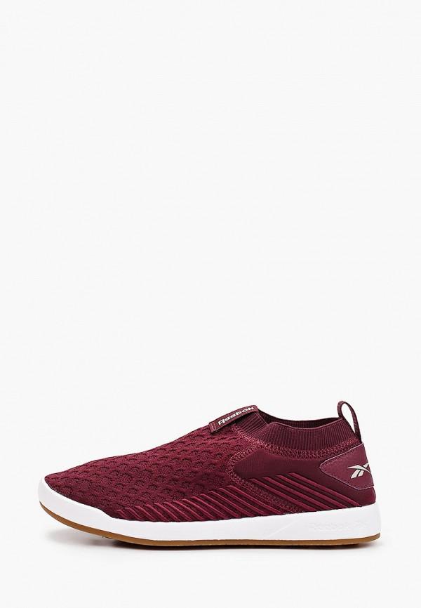 женские низкие кроссовки reebok, бордовые