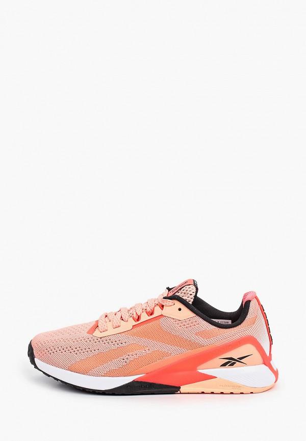 женские кроссовки reebok, оранжевые