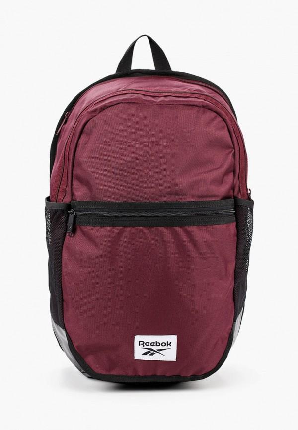 женский рюкзак reebok, бордовый