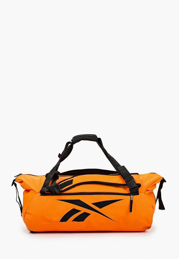 женская спортивные сумка reebok, оранжевая