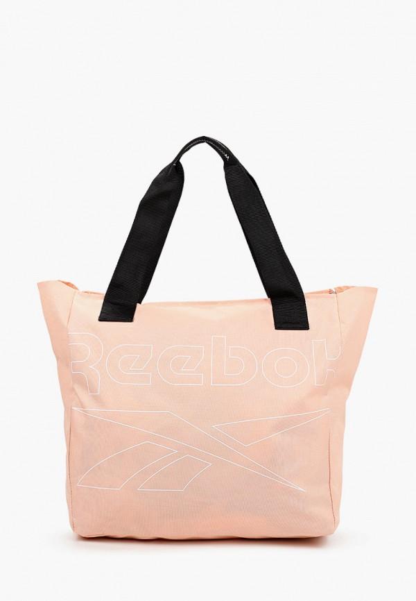 женская спортивные сумка reebok, бежевая