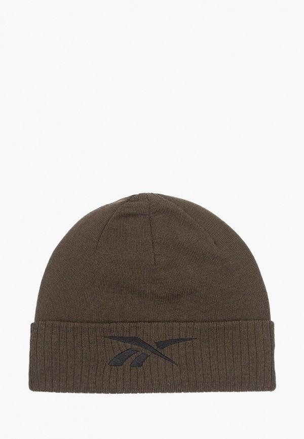 женская шапка reebok, хаки