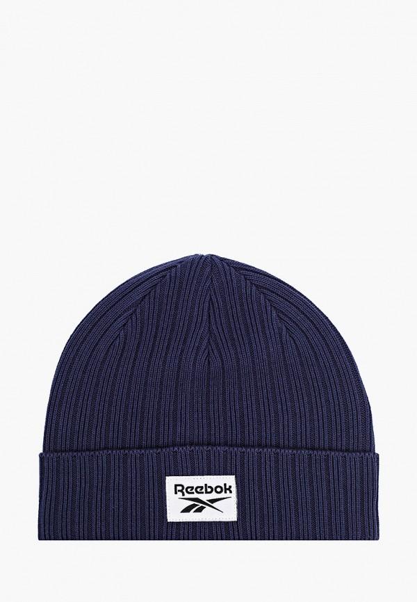 женская шапка reebok, синяя