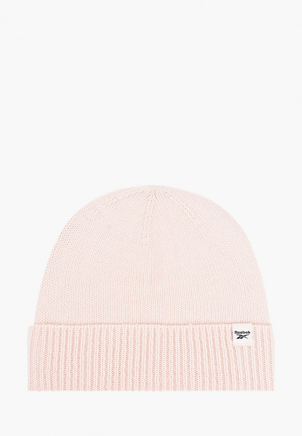 женская шапка reebok, розовая