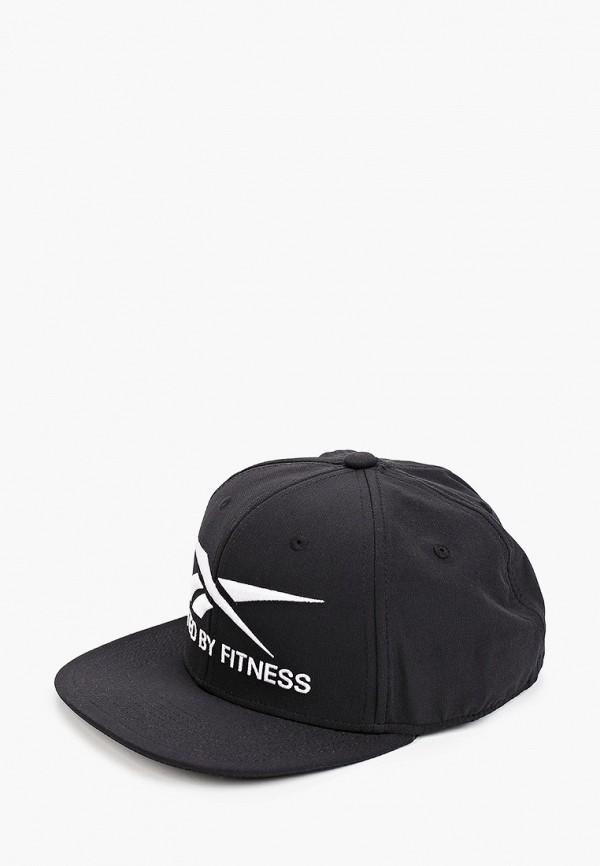 женская кепка reebok, черная