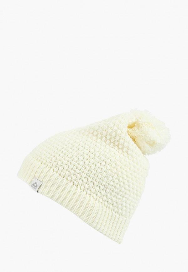 Купить Шапка Reebok, FOUND W BEANIE, RE160CWCDMB1, белый, Осень-зима 2018/2019