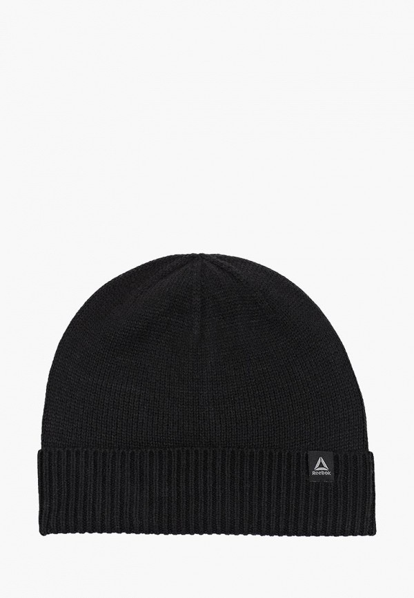 женская шапка reebok, черная