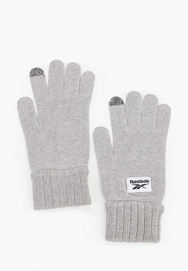 женские перчатки reebok, серые