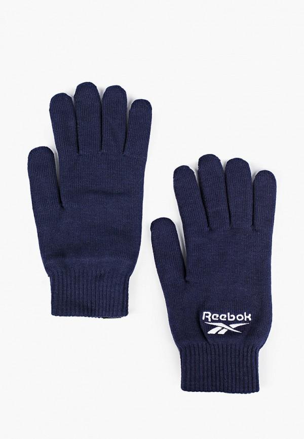 женские текстильные перчатки reebok, синие