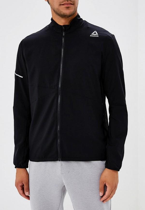 Купить Куртка спортивная Reebok, RUN WOVEN JKT, RE160EMCDMF1, черный, Осень-зима 2018/2019
