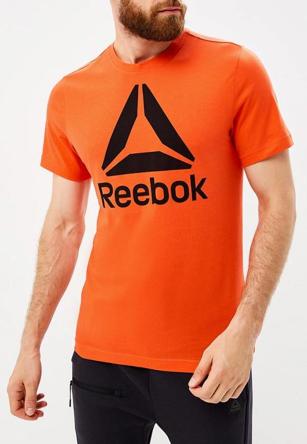 Купить Футболка Reebok, QQR- Reebok Stacked, re160emcdml9, красный, Осень-зима 2018/2019