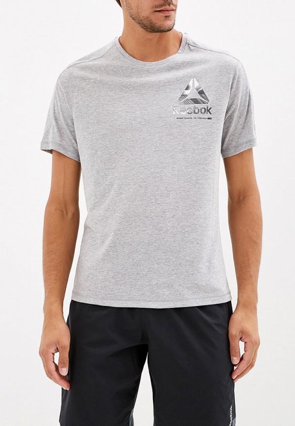 Купить Футболку спортивная Reebok серого цвета