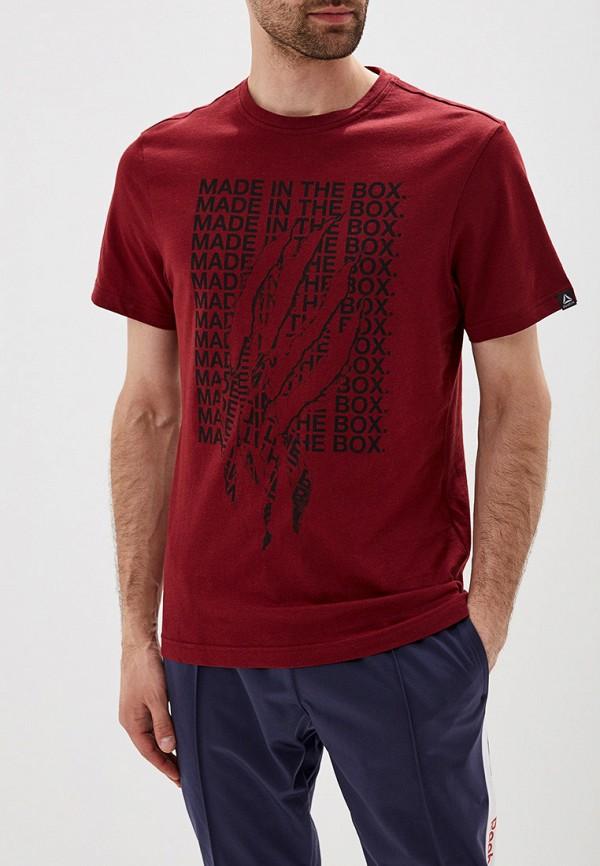 мужская спортивные футболка reebok, бордовая