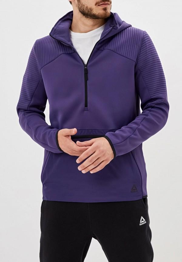 мужские худи reebok, фиолетовые