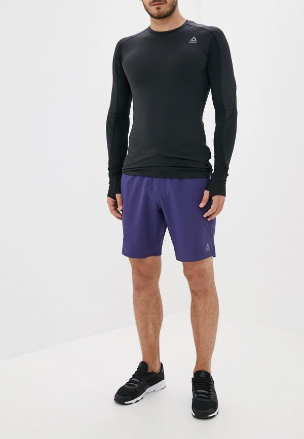 Фото 2 - Шорты спортивные Reebok фиолетового цвета