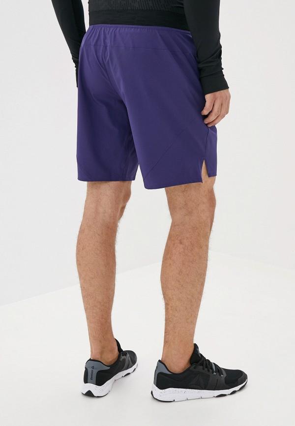 Фото 3 - Шорты спортивные Reebok фиолетового цвета
