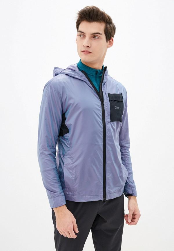 мужская куртка reebok, фиолетовая