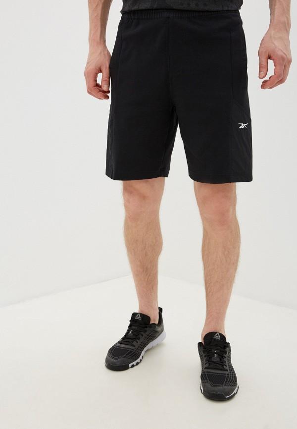 мужские шорты reebok, черные