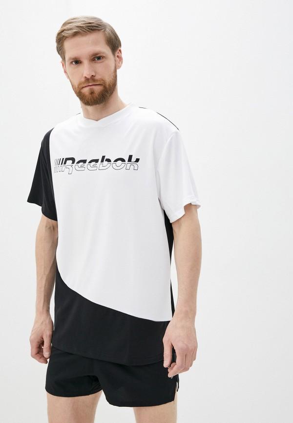 мужская футболка с коротким рукавом reebok, белая
