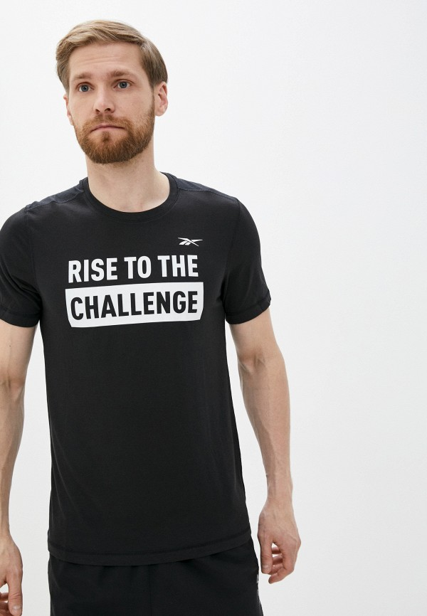 мужская футболка с коротким рукавом reebok, черная