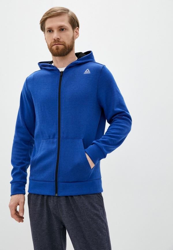 мужская толстовка reebok, синяя