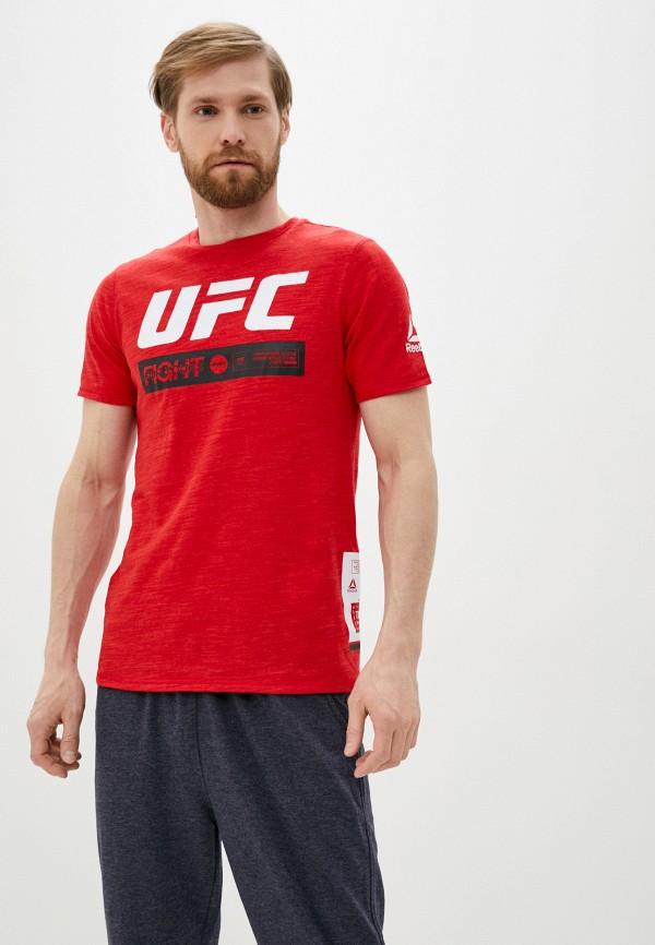 мужская футболка reebok, красная