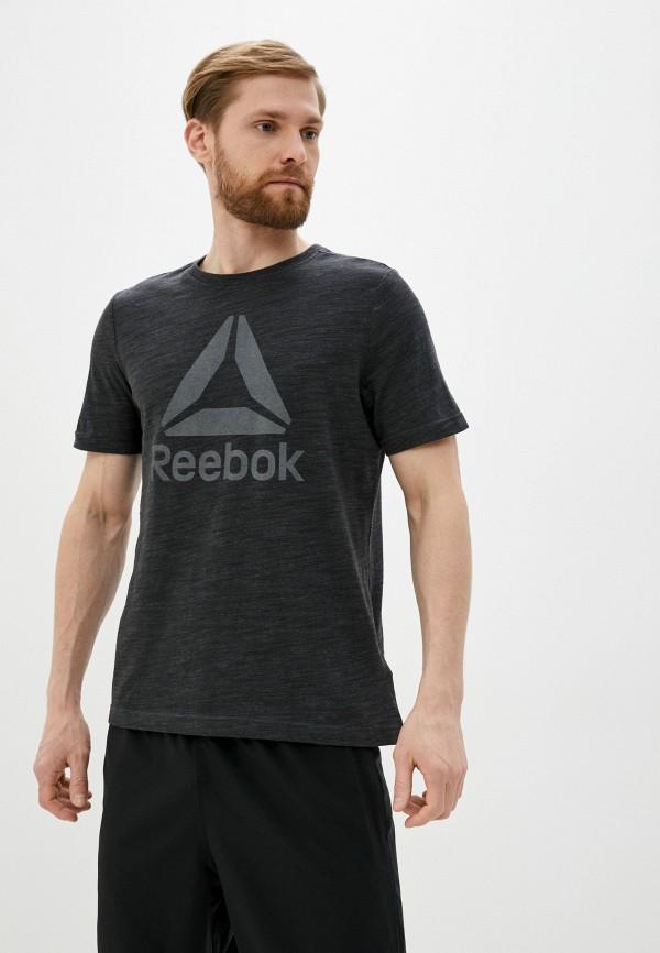 мужская футболка reebok, черная
