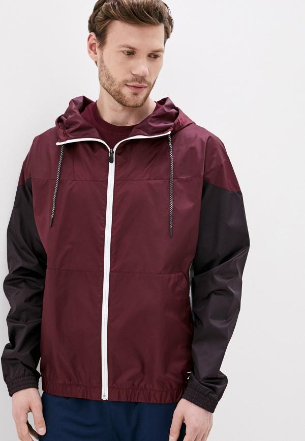 мужская куртка reebok, бордовая