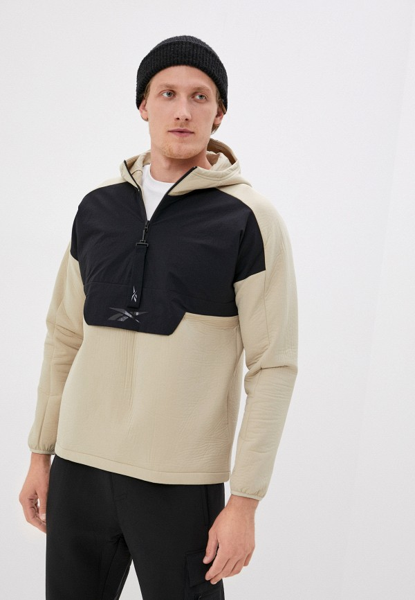 мужская куртка reebok, бежевая