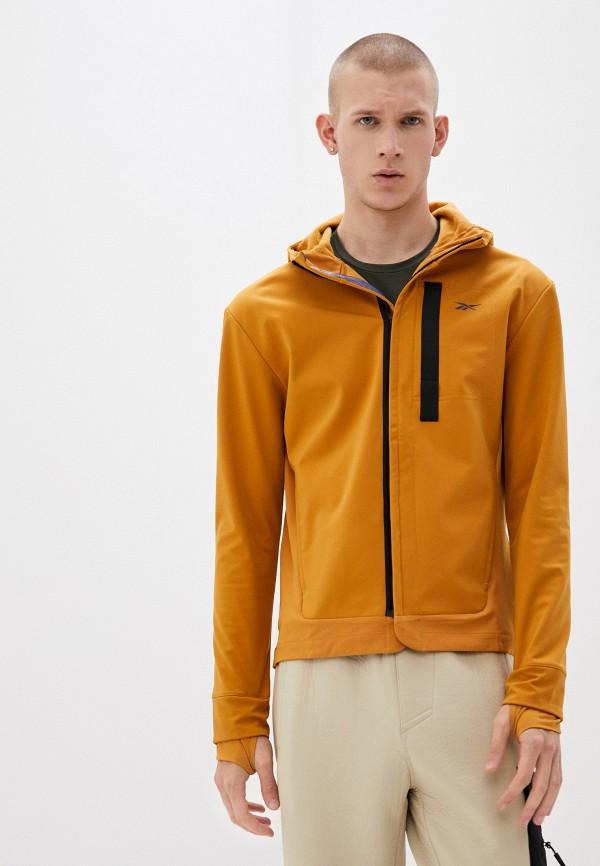 мужская куртка reebok, желтая