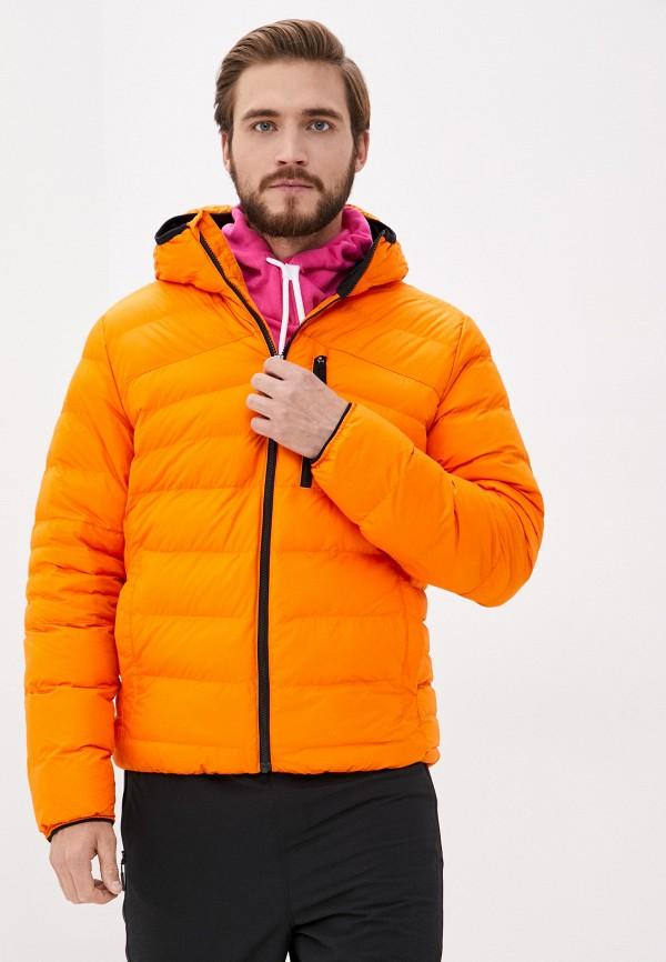 мужская куртка reebok, оранжевая