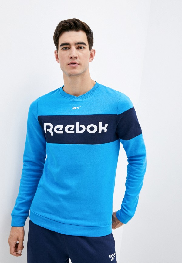 мужской свитшот reebok, голубой