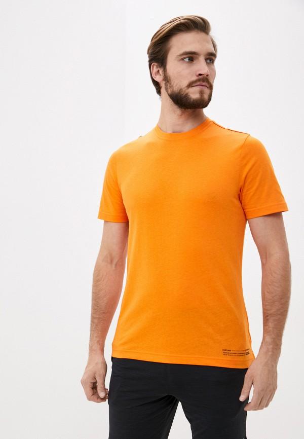 мужская спортивные футболка reebok, оранжевая