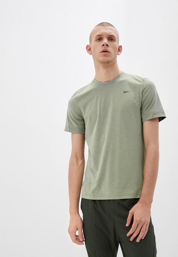 мужская спортивные футболка reebok, зеленая