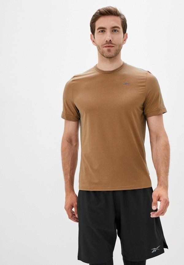 мужская спортивные футболка reebok, коричневая