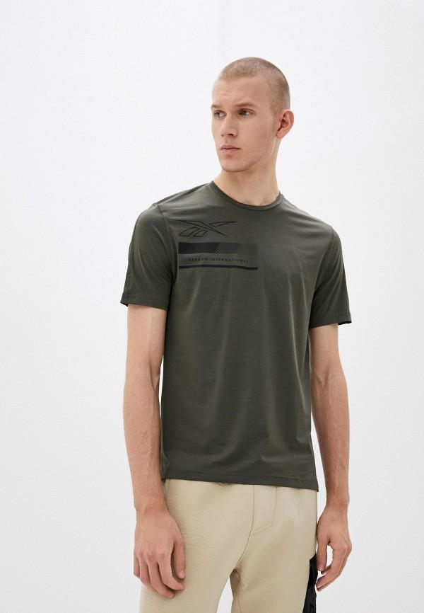 мужская спортивные футболка reebok, хаки