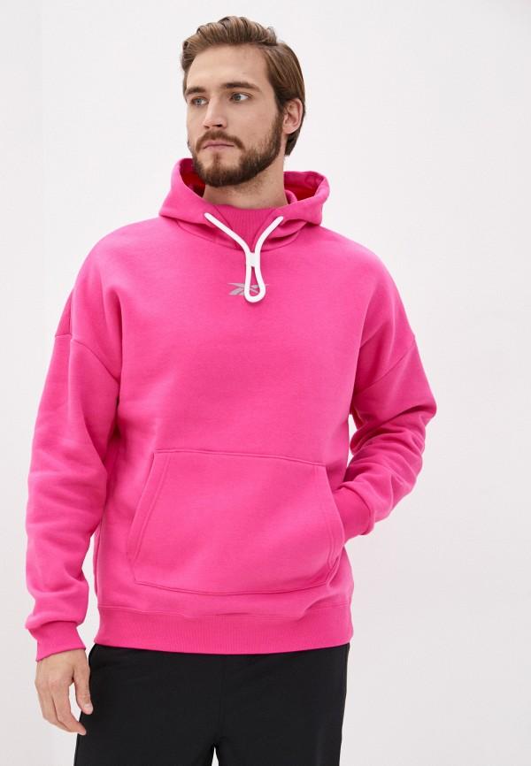 мужские худи reebok, розовые