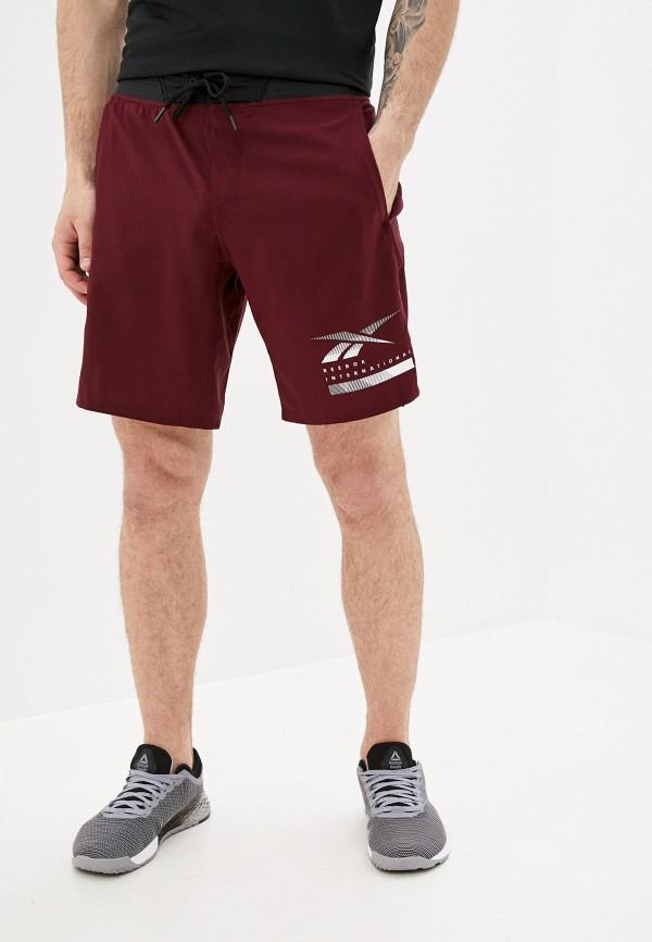 мужские спортивные шорты reebok, бордовые