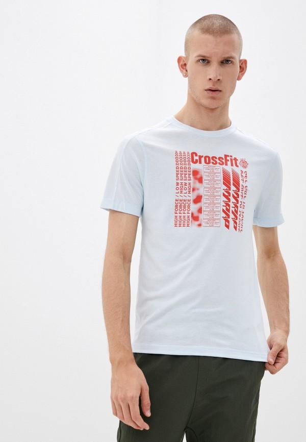 мужская спортивные футболка reebok, голубая