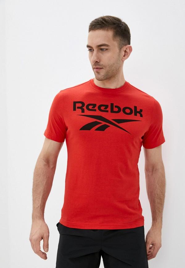 мужская спортивные футболка reebok, красная
