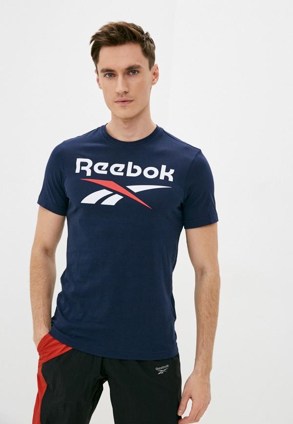 мужская спортивные футболка reebok, синяя