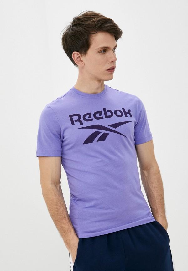 мужская спортивные футболка reebok, фиолетовая