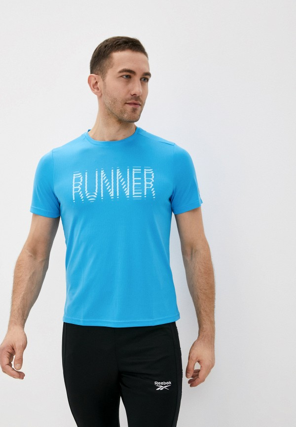мужская футболка reebok, голубая