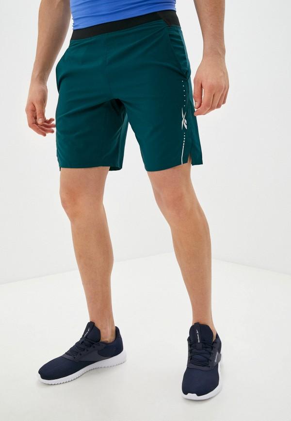 мужские спортивные шорты reebok, зеленые