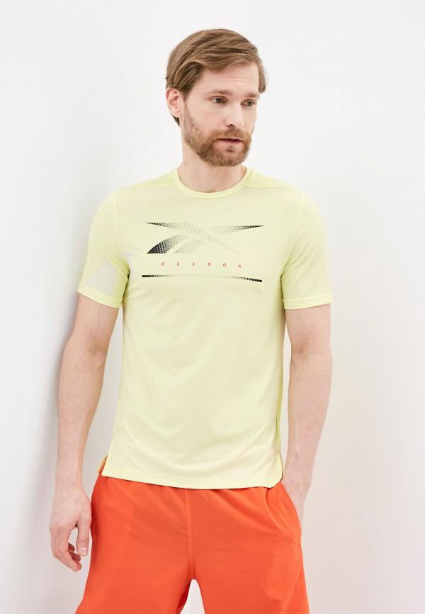 мужская спортивные футболка reebok, желтая