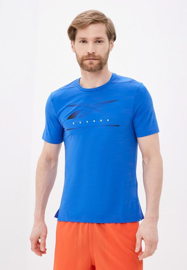 Футболка спортивная Reebok синего цвета
