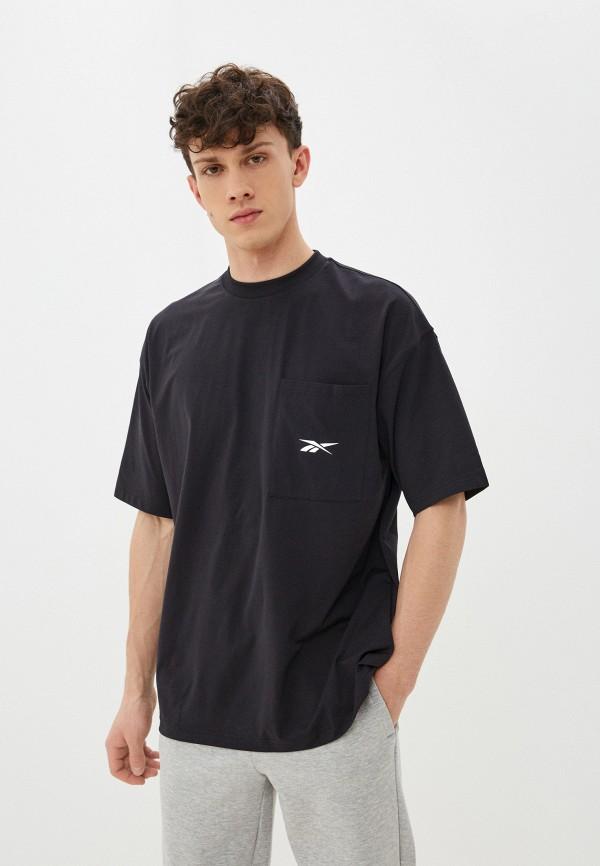 мужская спортивные футболка reebok, черная